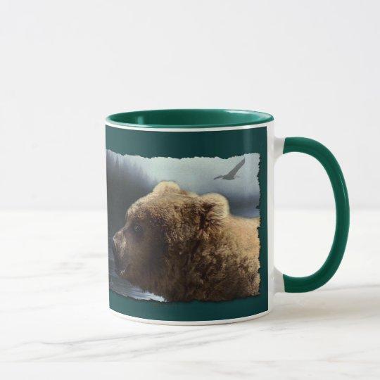 Grizzly Bear Wild Animal-lover Art Mug