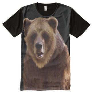 Grizzly Bear Wilderness Wildlife Art All-Over Print T-shirt