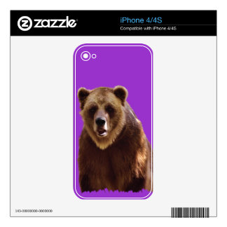 Grizzly Bear Wildlife Animal-lover Skin For The iPhone 4S
