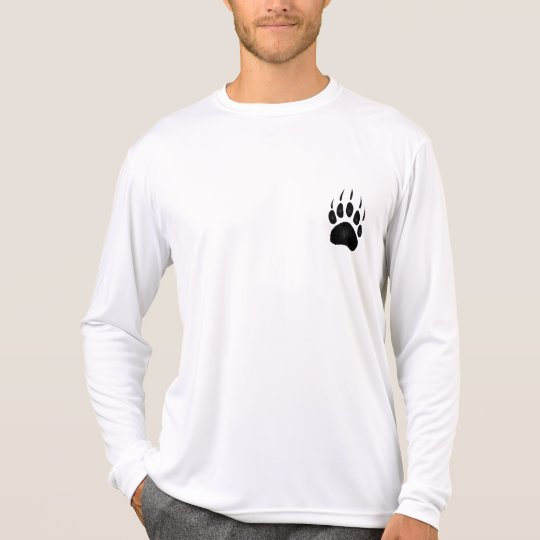 Grizzly Bear Wildlife Animal Paw-Print Shirt