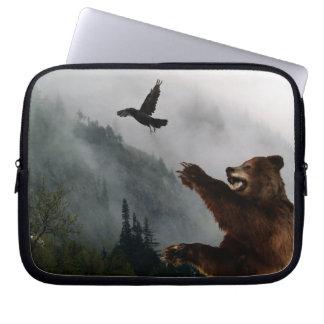 Grizzly Bear Wildlife Laptop Sleeve