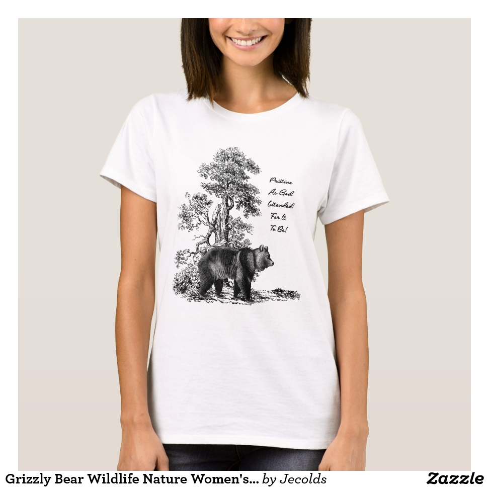 Grizzly Bear Wildlife Nature Women's T-Shirt - Best Selling Long-Sleeve Street Fashion Shirt Designs