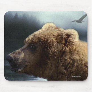 Grizzly Bear Wildlife Supporter Art Mousepad