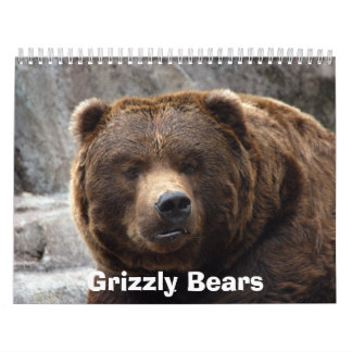 Grizzly Bears Calendar, Grizzly Bears Calendar