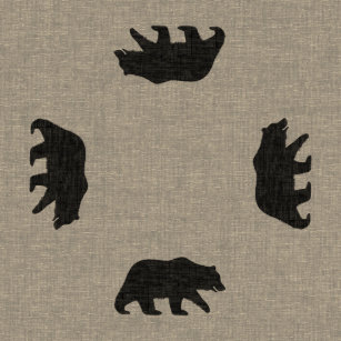 grizzly bear silhouette home décor furnishings pet supplies zazzle