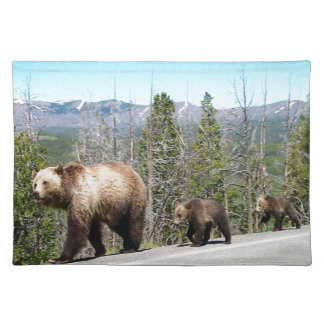 Grizzly Bears of Yellowstone Cloth Placemat