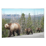 Grizzly Bears of Yellowstone Placemat