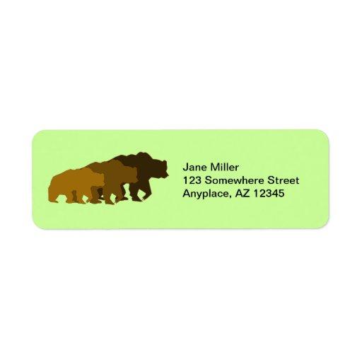 Grizzly Bears Return Address Label