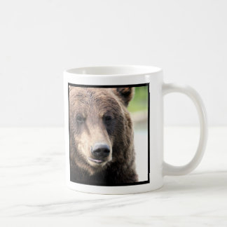Grizzly Brown Bear Face Classic White Coffee Mug