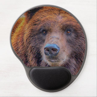 Grizzly Brown Bear Wildlife Photo Gel Mouse Pad