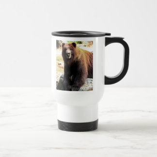 Grizzly Brown Bear Wildlife Photo 15 Oz Stainless Steel Travel Mug