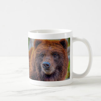 Grizzly Brown Bear Wildlife Photo Classic White Coffee Mug