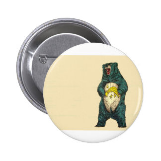 Grizzly Care Bear Badge Button