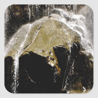 GRIZZLY FALLS DETAIL SQUARE STICKER