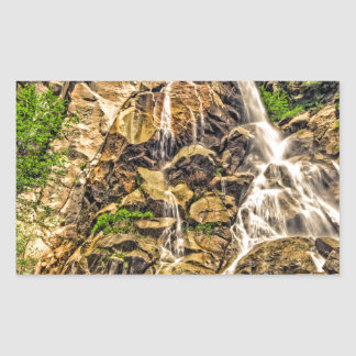 Grizzly Falls Rectangle Stickers