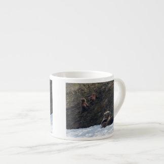 Grizzly Family Scene Espresso Cup