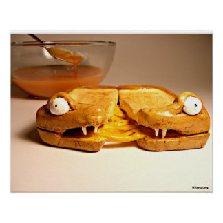 Grizzly Grilled Cheese Poster