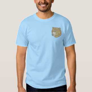 Grizzly Head Embroidered T-Shirt