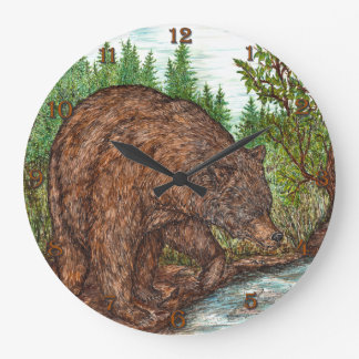 Grizzly Large Clock