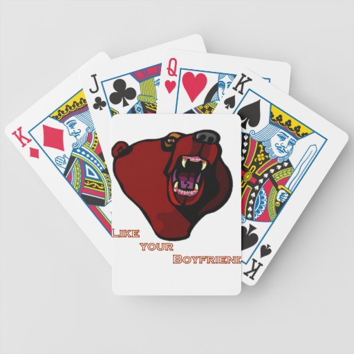 "Grizzly ""like your boyfriend"" card deck"