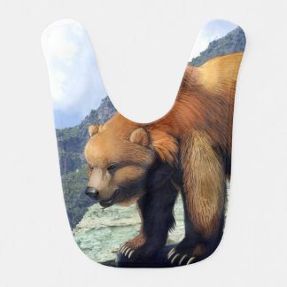 Grizzly Mountain Baby Bib