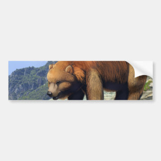Grizzly Mountain Bumper Sticker