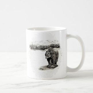Grizzly on rock  Mug