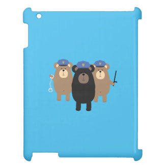 Grizzly Police Officer Squad Q1Q iPad Case