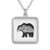 Grizzly Territory Silver Plated Necklace