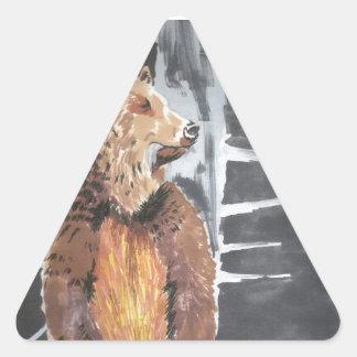 Grizzly Triangle Sticker