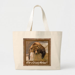 Grizzly Workout Tote Bag bag