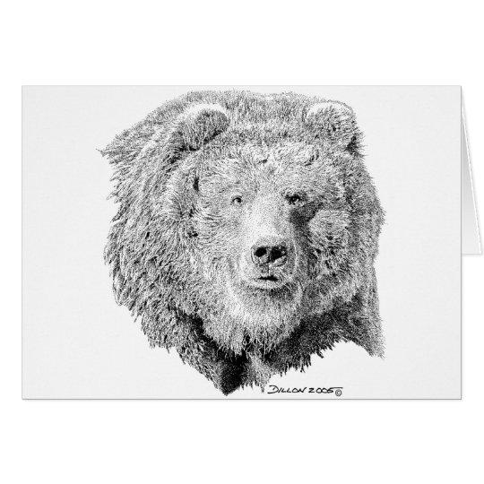 Grizzy Bear Card