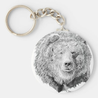 Grizzy Bear Keychain