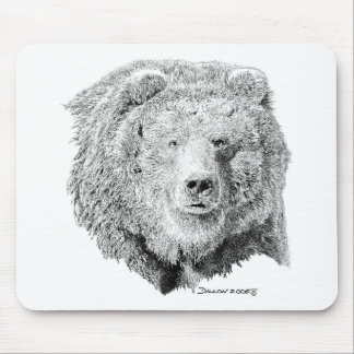 Grizzy Bear Mouse Pad