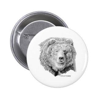 Grizzy Bear Pinback Button