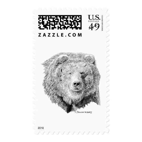 Grizzy Bear Postage