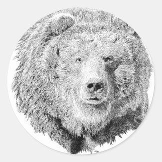 Grizzy Bear Stickers