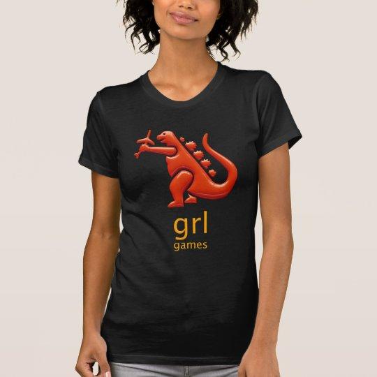 GRL Games Womens Black Tee