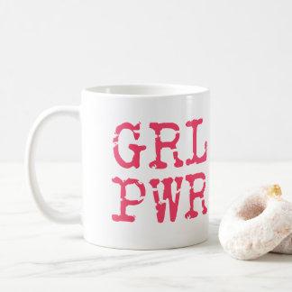 GRL PWR (girlpower) - TAZA ROSADA de COFFE