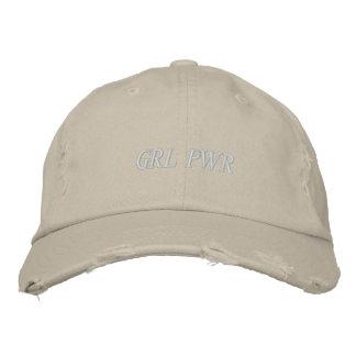 GRL PWR HAT WHITE LETTERS
