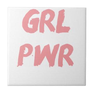 GRL PWR -- Poder del chica Azulejo Cuadrado Pequeño