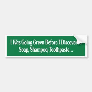 Grn del bmprstkr de I_was_going_green Etiqueta De Parachoque