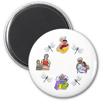 Grndms Hands 2 Inch Round Magnet