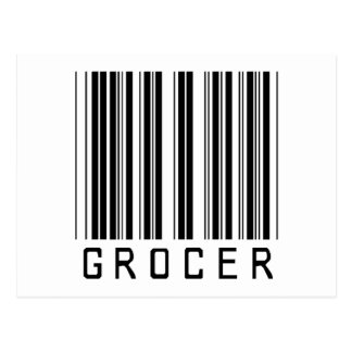 Grocer Bar Code Postcard