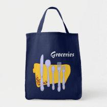 Groceries Dinnerware Kitchen Art Canvas Bag bags