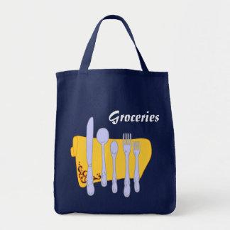 Groceries Dinnerware Kitchen Art Canvas Bag