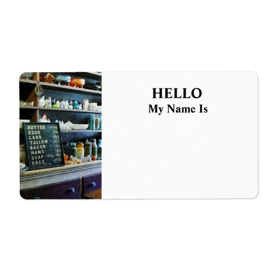 Groceries in General Store Label