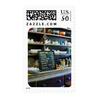 Groceries in General Store Postage