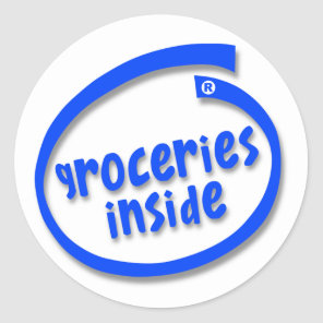 Groceries Inside Classic Round Sticker