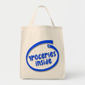 Groceries Inside tote bag